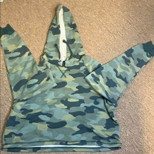 Camo Cropped Sweater